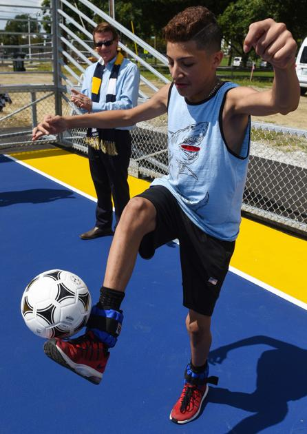 Manchester's first soccer mini-pitch unveiled on east side