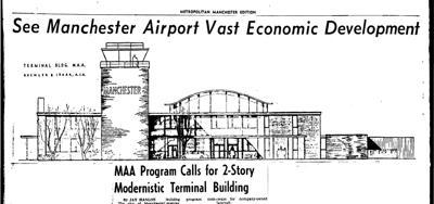 Feb. 8, 1960 illustration of airport terminal