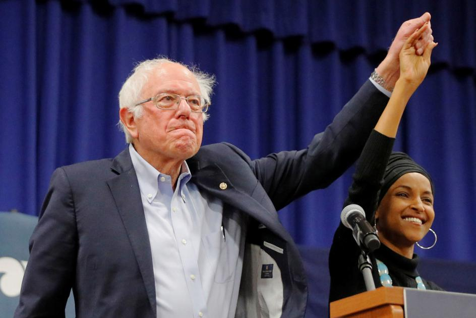 Sanders gets boost from Omar in NH visit