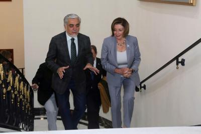 U.S. House Speaker Nancy Pelosi and Afghanistan Chief Executive Abdullah Abdullah