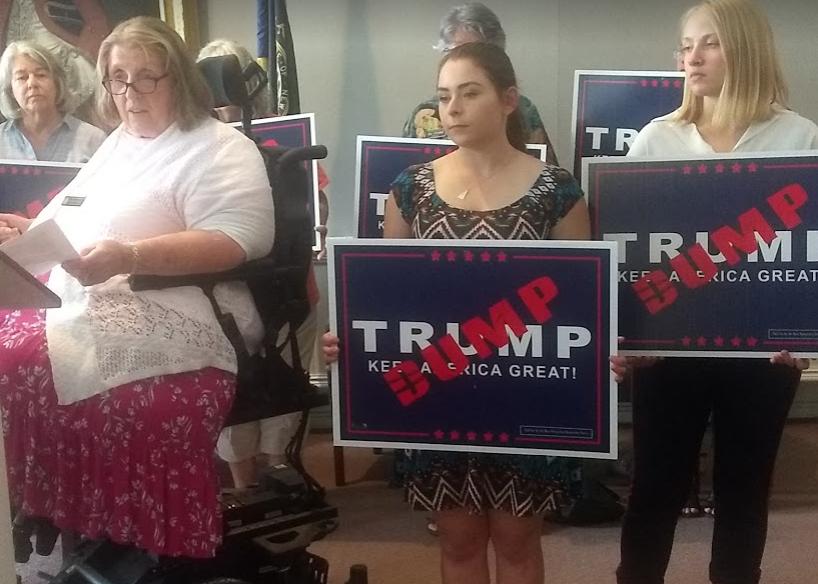 Liberals seek to pressure Trump rally venue sponsors