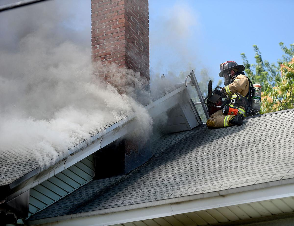 Manchester fire closeup