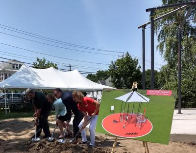 Groundbreaking for AARP-sponsored fitness park in Manchester