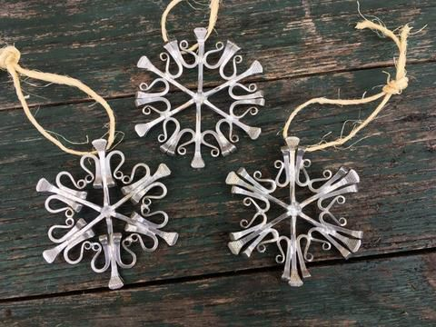 The Bent Nail snowflakes