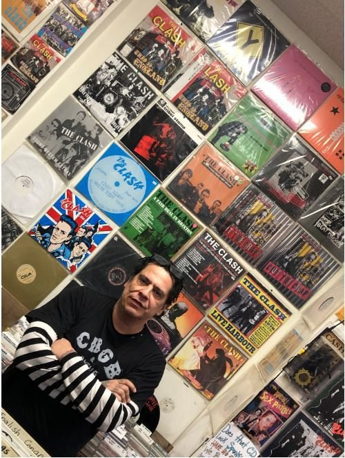 Todd Radict's vinyl collection of music by The Clash