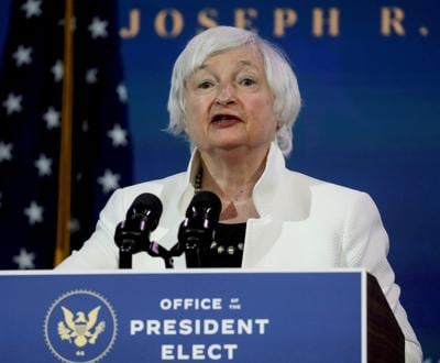 FILE PHOTO: U.S. Treasury Secretary-designate Janet Yellen in Wilmington