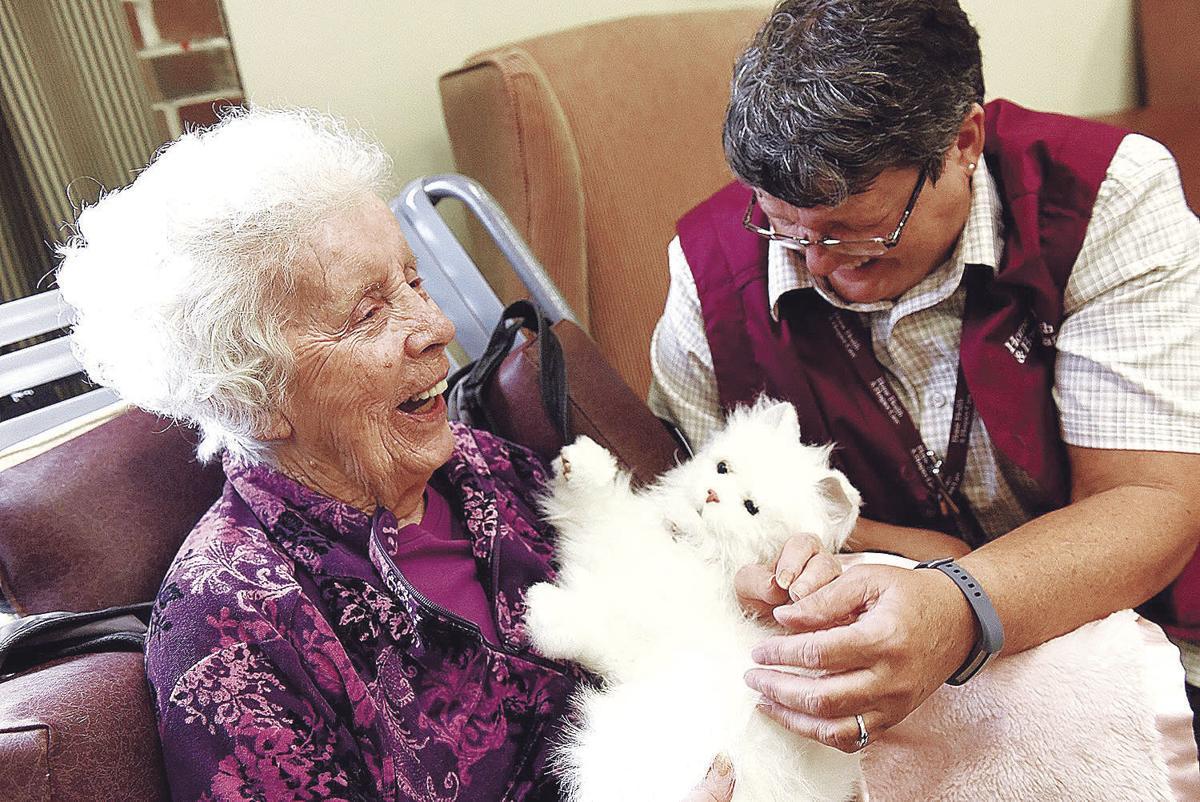 Robotic comfort animals bring relief to hospice, dementia patients