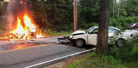 Belmont crash injures two, closes part of Route 107 for hours