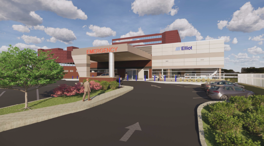 Rendering of new emergency department at Elliot