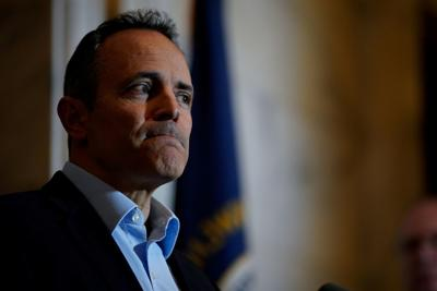 Kentucky Governor Matt Bevin concedes the gubernatorial election, acknowledging that the recanvass of votes will not offer him a path to victory during a press conference at the Capitol Building in Frankfort