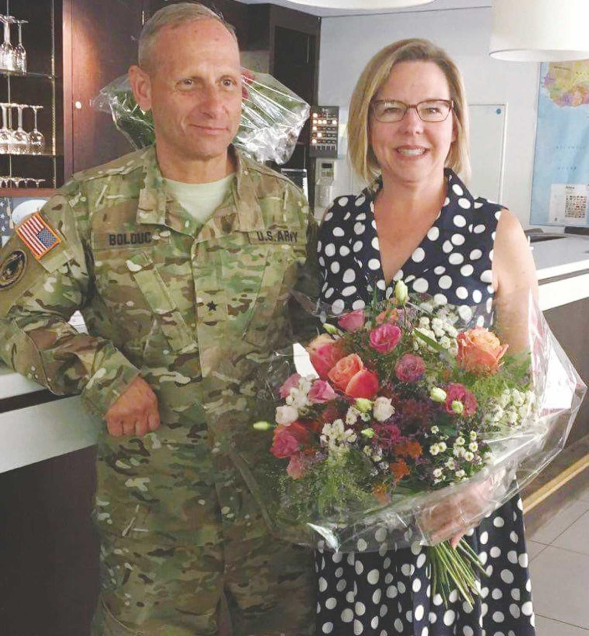 Brigadier General Donald Bolduc, with his wife, Sharon.