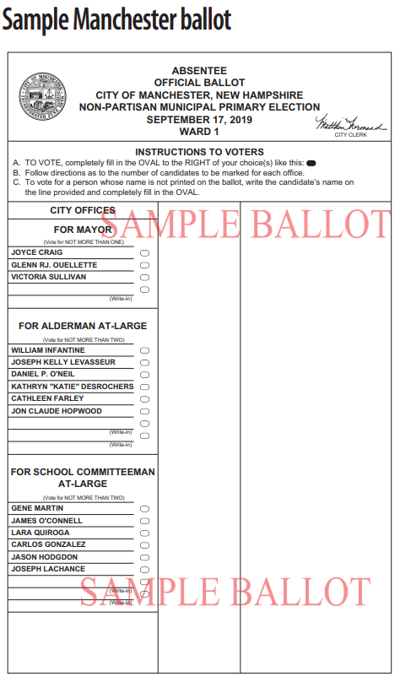 Manchester city sample ballot 2019