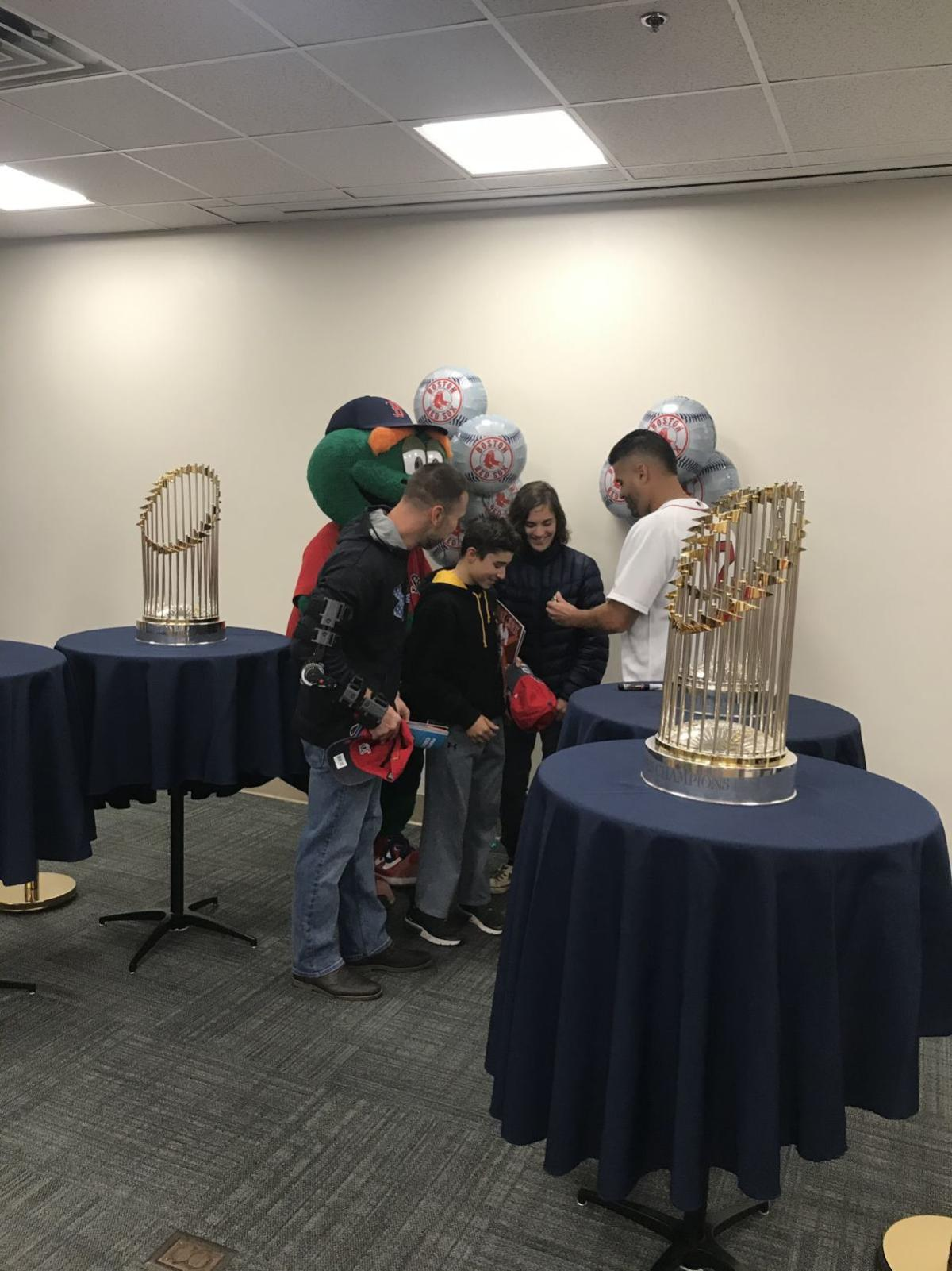 Red Sox bring World Series trophies to Manchester VA in celebration of Veterans Day