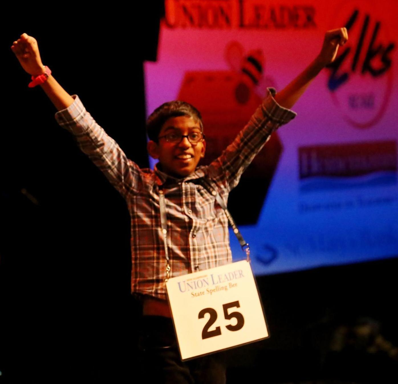 Spelling bee state winner 2020 -- Aadhavan Veerendra