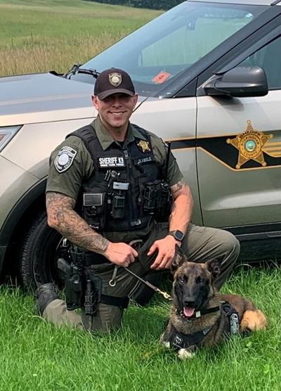 Rockingham County Deputy Sheriff George Abele with Saber