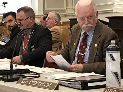 Reps wearing pearl necklaces at hearing on red flag law in Concord