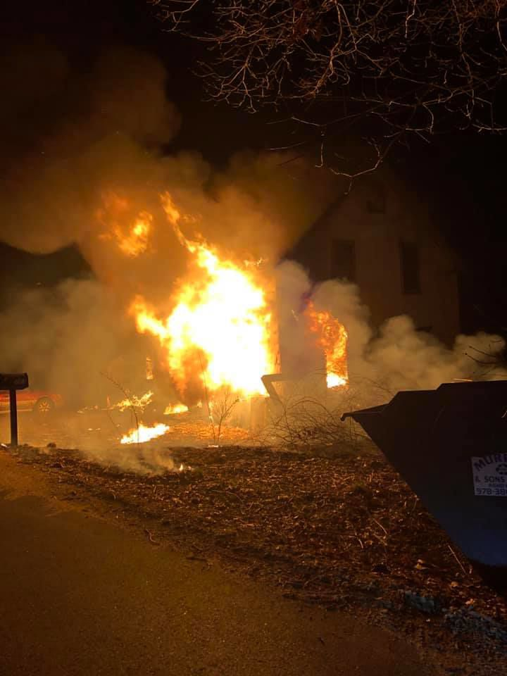 Family safe, pets missing, after New Ipswich fire
