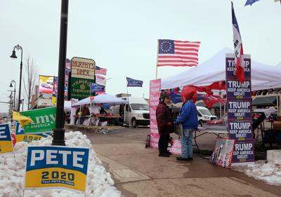 Trump rally campers scene