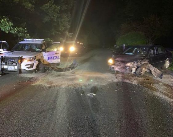 Windham man arrested after colliding with police cruiser