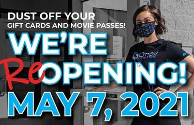 Several movie theaters to reopen Friday