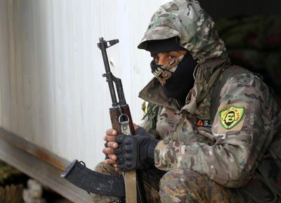 A fighter from the SDF