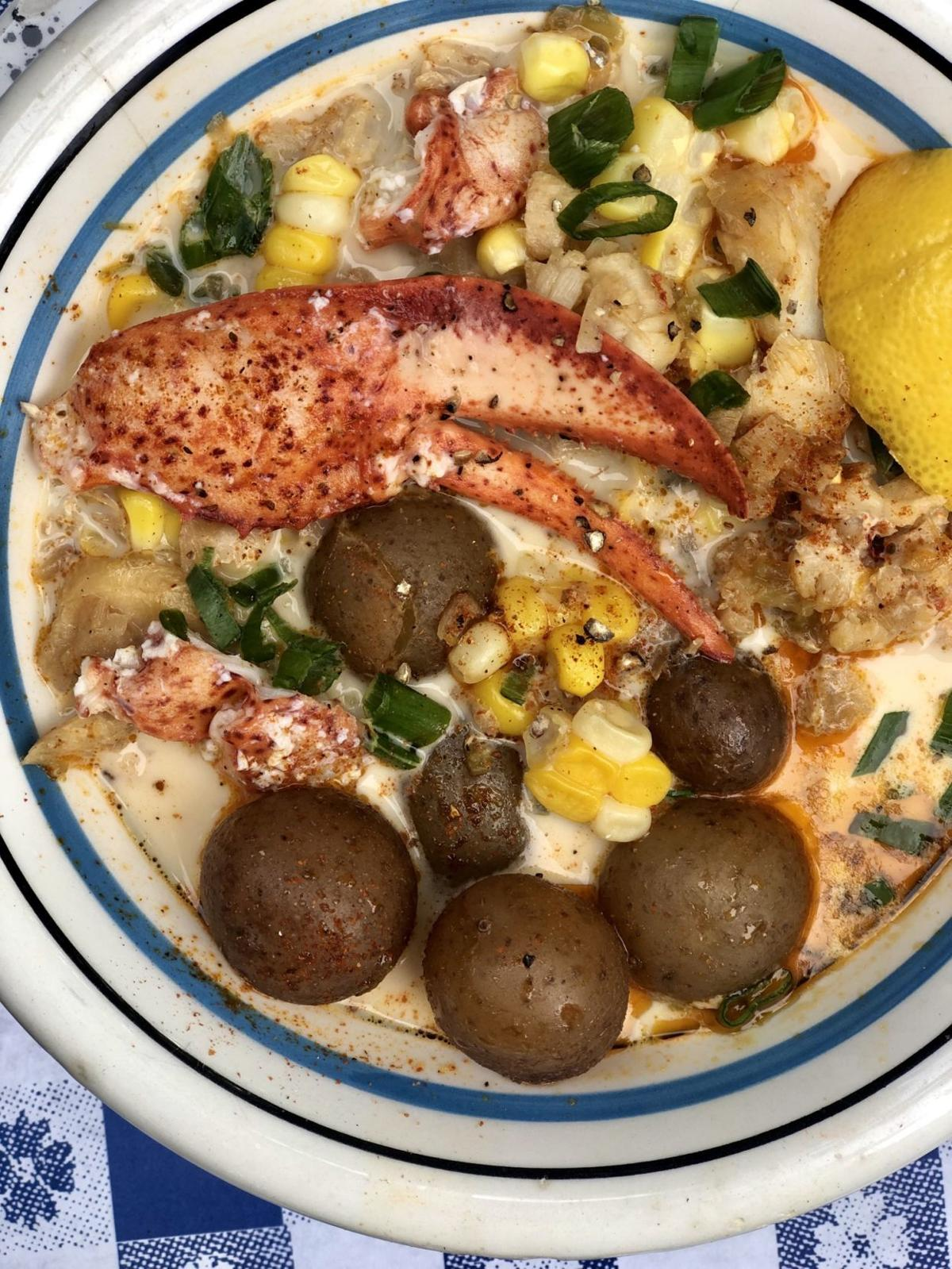 Lobster, Cod and Corn Chowder
