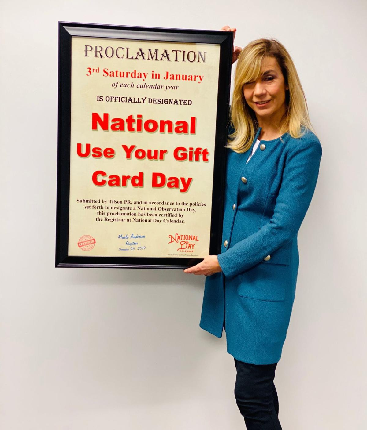 """""""National Use Your Gift Card Day"""" proclamation"""