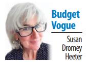 Susan Dromey Heeter's Budget Vogue column sig