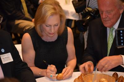 Gillibrand signs egg