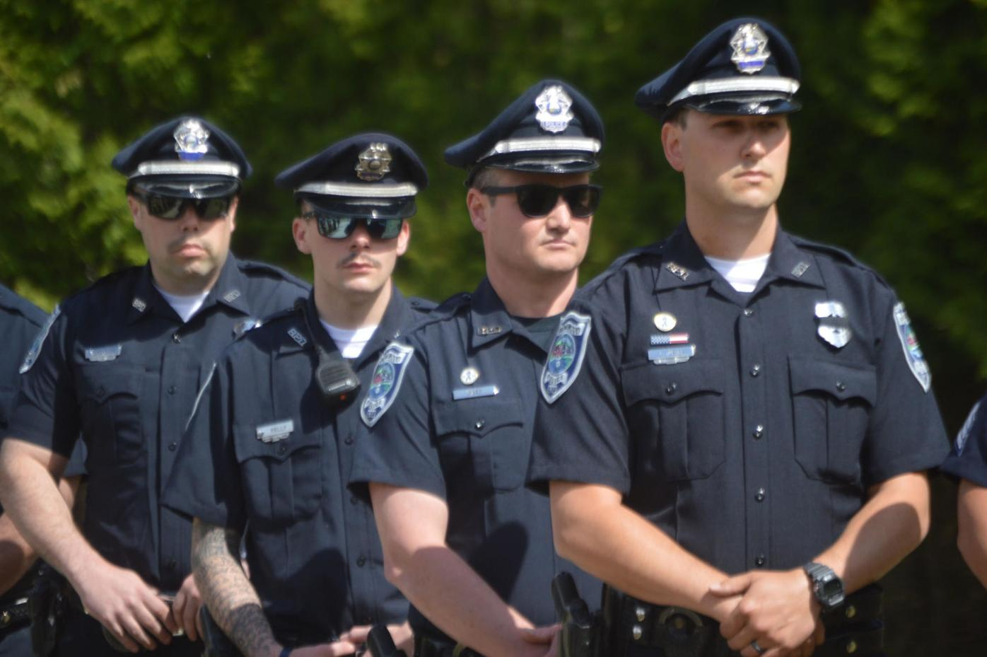 Police officers from Brentwood and other surrounding towns