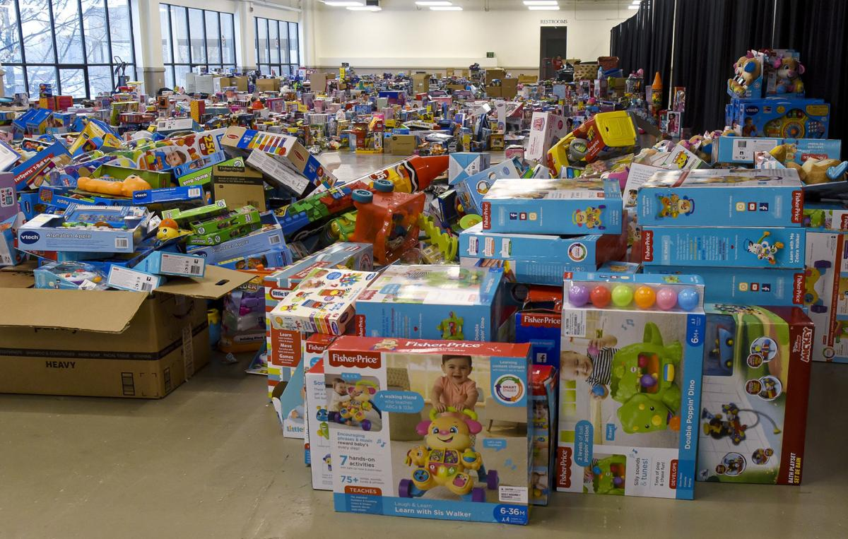 The toys are equally distributed during two days this year