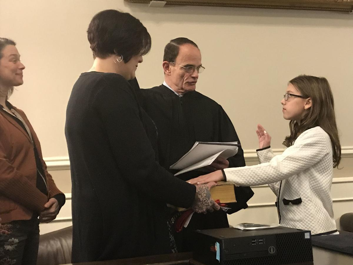 Kid Governor swearing in