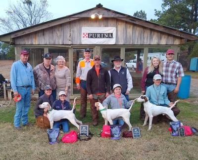 Mindy and Addison McDuffie with Dot, Reese Green with Blaze, Brandon Renfroe with Peter, Hunter McDuffie, Tommy Traylor, Kay Traylor, Darron Hendley, Justin Green, Mike Green and Judges Bailey Pierce and Murphy Renfroe.
