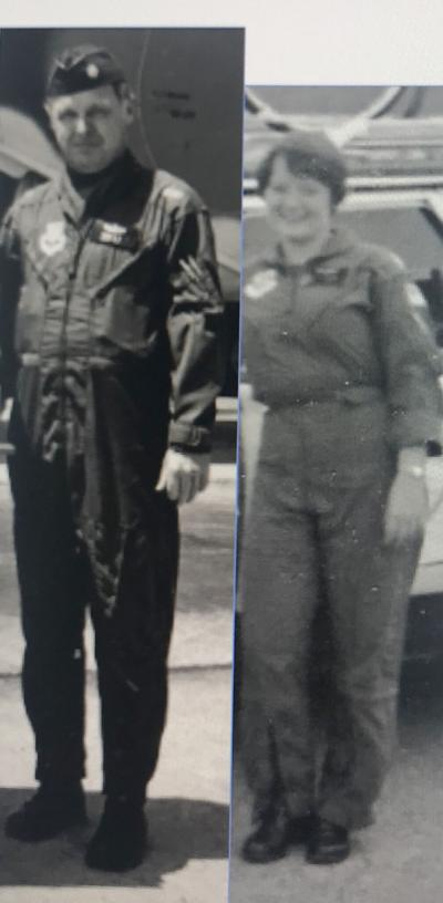 Captain Joyce Perrin and Lt. Col. Allen B. Perrin served in the United States Air Force.