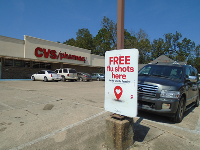 Flu immunization shots are available at the local CVS Pharmacy in Union Springs. (Photo by Faye Gaston)