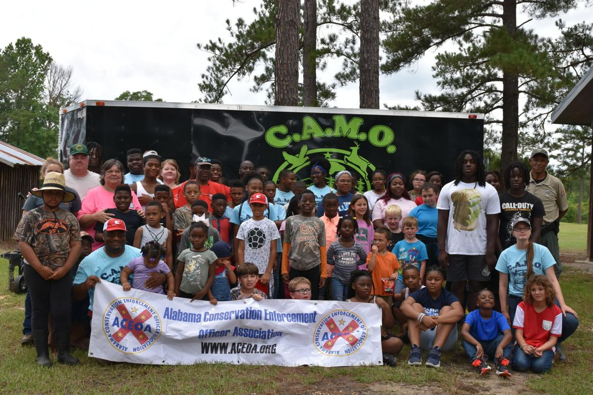 Fishing Derby Youth participants.