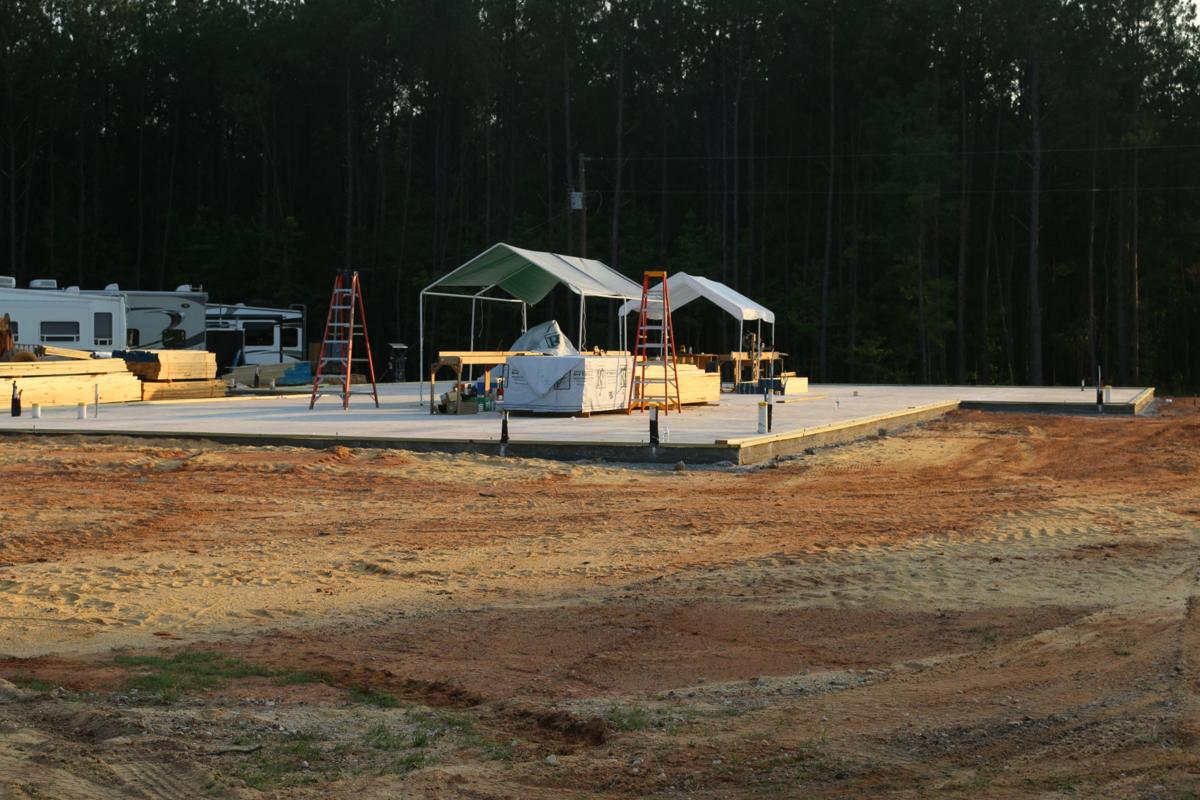 Monday, June 3, 2019 just the slab.