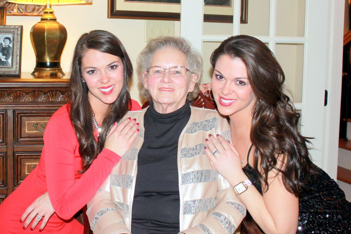 Twins, Kara and Allison Hendley with their grandmother, Mary Ann Hendley