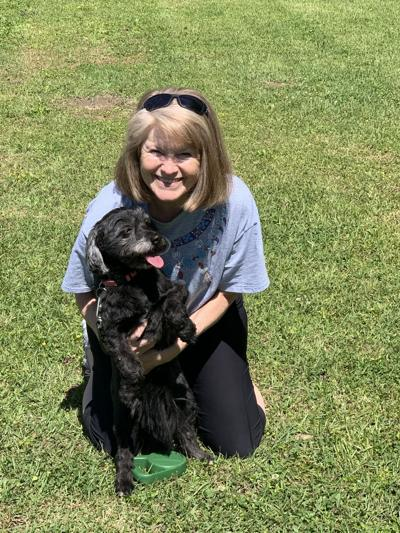 Kathryn Adams Wood adopted Reagan from the Bullock County Humane Society.