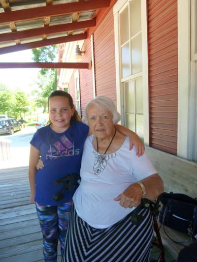 Barbara Cox and her great granddaughter, Camille enjoyed lunch at Sister's Restaurant in Troy, Alabama on the Day Trip by the Chunnenuggee Garden Club on July 18, 2019. (Photo by Faye Gaston)