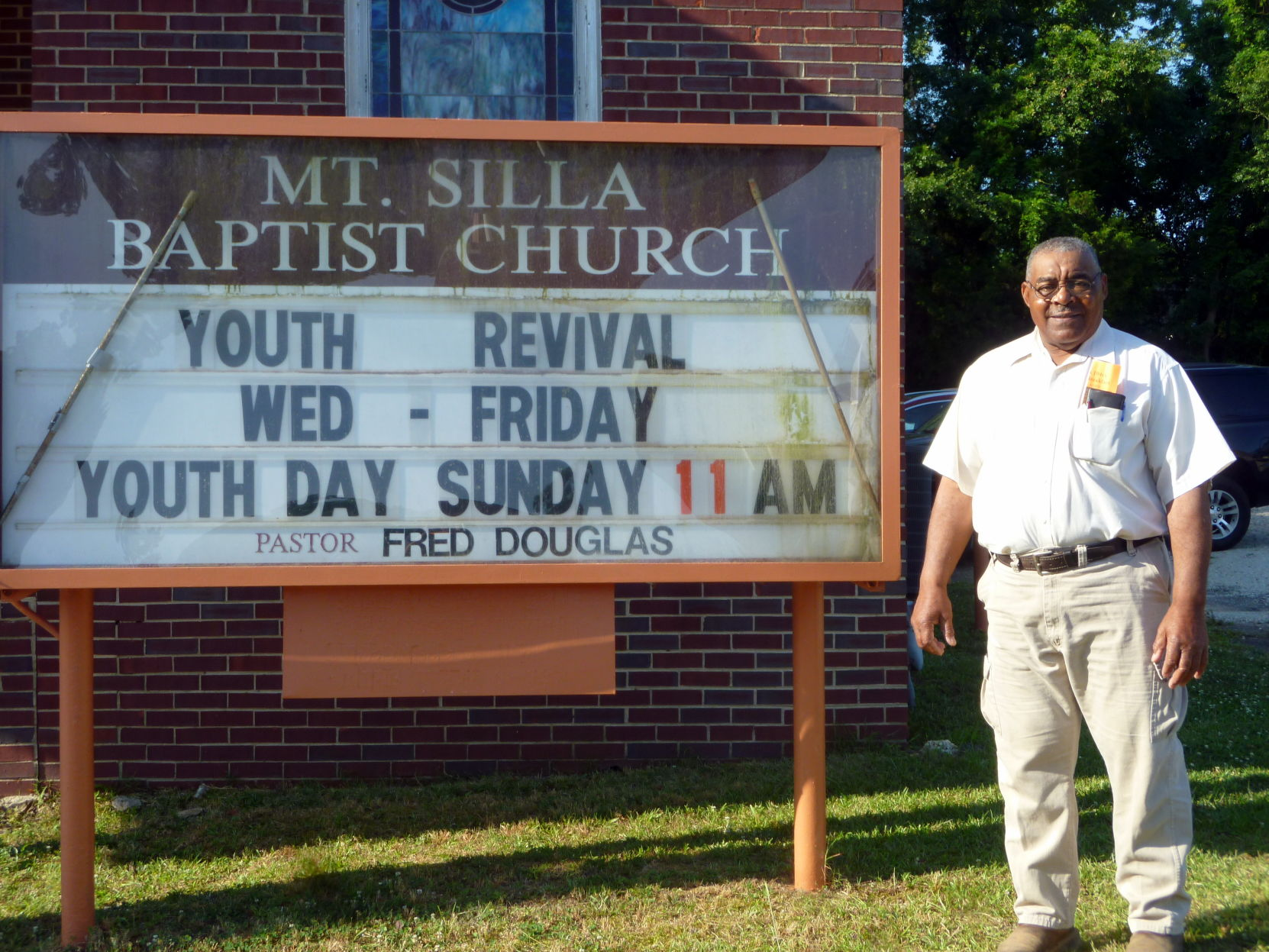 The present pastor of Mt. Silla Missionary Baptist Church is Rev. Fred Douglas.