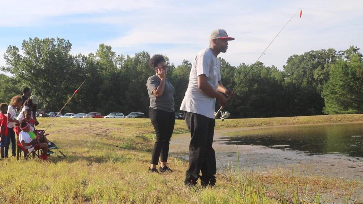 Fishing on August 1, 2019 at the Summer Fest 2019.