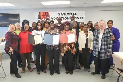 "On November 20, 2019 concerned citizens gathered at the Richard Stone Complex in Union Springs to hear information about the need for adoption of children. The program was sponsored by the Bullock County Department of Human Resources to place a national spotlight on November being ""National Adoption Awareness Month."""