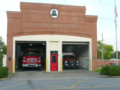 Fire Station on Prairie Street in downtown Union Springs.