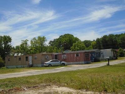 Due to the COVID-19 pandemic, the Union Springs Planning Commission has postponed public hearings about the continued conditional use of three mobile homes on Holcombe Avenue, Montgomery Avenue, and Seale Avenue. The photo shows a mobile home park on MLK near AG Grocery Store. (Photo by Faye Gaston)