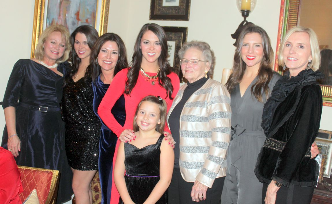 Stephanie Beatrous, Allison Hendley, Gaye Smith, Kara Hendley, Josie Moore,  Mary Ann Hendley, Lauren Barnett and Conni Barnett