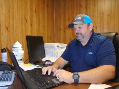 Gary Hyche, Project Manager for Clear Water Solutions (CWS).  (Photo by Faye Gaston)