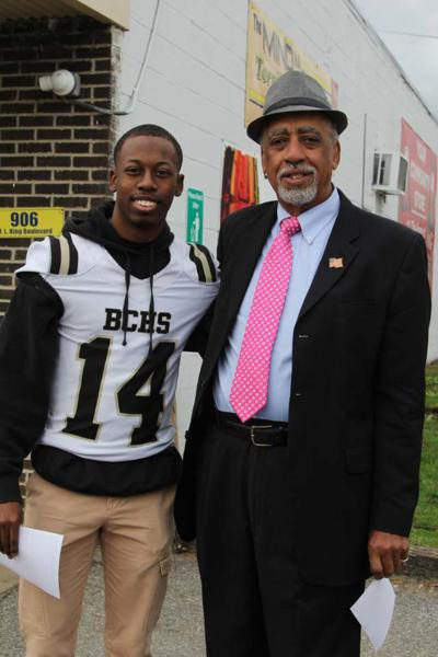 Markavious Streeter and Commissioner John McGowan.