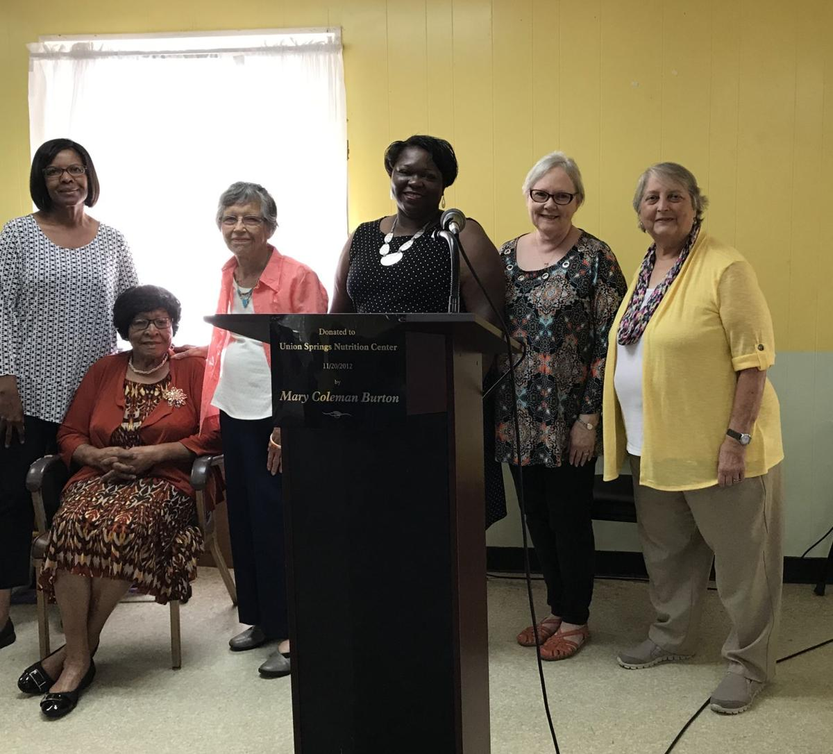 Staff of South Central Alabama Development Commission Area Agency on Aging. Left to right: Sharon Redd, Leola Cobb, Maude Garrick, Mary Wordsworth, Shelia Rice, and Karen Crawford.