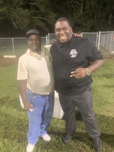 Darnell Fitzpatrick with his son Bullock County High School Coach Isaiah Person